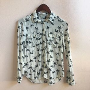 American Eagle palm tree button up